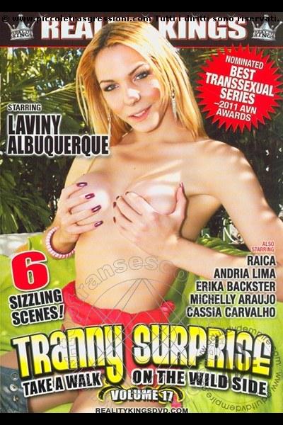 Foto frontale della copertina del film di Laviny Albuquerque Pornostar transexescort Legnano